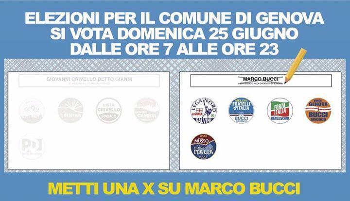 Fac Simile Genova Ballottaggio 2017